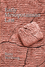 Early Mesopotamian Law book jacket