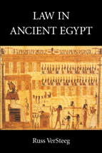 Law in Ancient Egypt book jacket