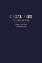 Legal Fees book jacket