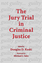The Jury Trial in Criminal Justice book jacket