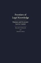 Frontiers of Legal Knowledge book jacket