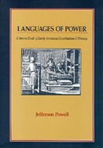 Languages of Power book jacket