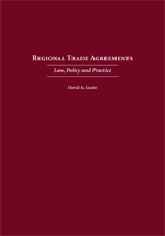 Regional Trade Agreements book jacket