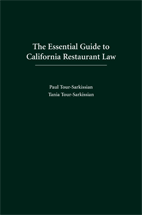 The Essential Guide to California Restaurant Law book jacket