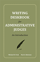 Writing Deskbook for Administrative Judges book jacket