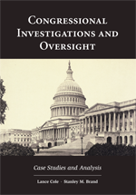 Congressional Investigations and Oversight book jacket
