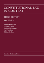 Constitutional Law in Context, Volume 1 (Paperback Printing) book jacket