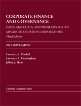 Corporate Finance and Governance, Third Edition, 2011 Supplement book jacket