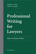 Professional Writing for Lawyers book jacket