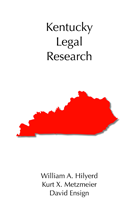 Kentucky Legal Research book jacket