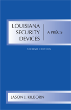 Louisiana Security Devices, A Précis book jacket