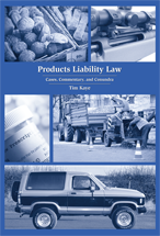 Products Liability Law book jacket