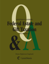 Questions & Answers: Federal Estate & Gift Taxation book jacket