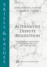 Skills & Values: Alternative Dispute Resolution book jacket