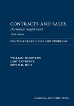 Contracts and Sales Document Supplement book jacket