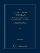 International Trade Law, Volume 1: Fundamental Obligations book jacket