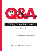 Questions & Answers: Wills, Trusts, and Estates book jacket
