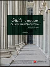 A Student's Guide to the Study of Law book jacket