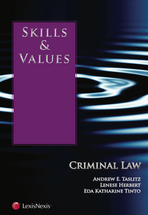Skills & Values: Criminal Law book jacket