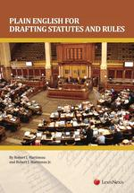 Plain English for Drafting Statutes and Rules book jacket