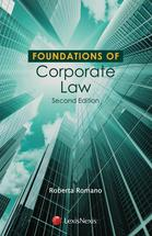 Foundations of Corporate Law book jacket