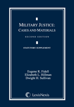 Military Justice Document Supplement book jacket