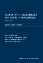 Cases and Materials on Civil Procedure: 2016 Document Supplement book jacket