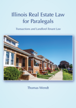 Illinois Real Estate Law for Paralegals book jacket