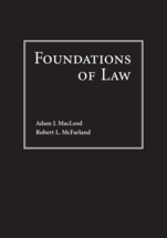 Foundations of Law book jacket