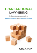 Transactional Lawyering book jacket