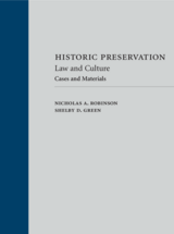 Historic Preservation: Law and Culture