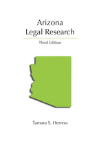 Arizona Legal Research book jacket