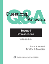 Questions & Answers: Secured Transactions book jacket