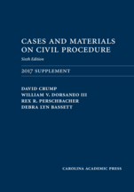 Cases and Materials on Civil Procedure: 2017 Document Supplement book jacket
