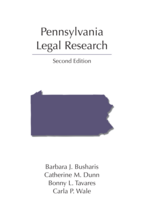 Pennsylvania Legal Research book jacket