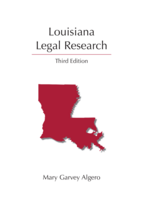 Louisiana Legal Research book jacket