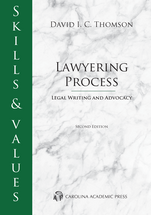 Skills & Values: Lawyering Process book jacket