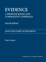 Evidence: 2018 Statutory Supplement book jacket