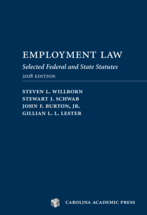 Employment Law: Selected Federal and State Statutes book jacket