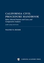 California Civil Procedure Handbook 2018-2019 book jacket