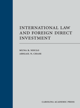 International Law and Foreign Direct Investment book jacket