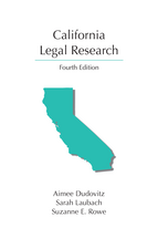 California Legal Research book jacket