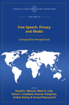Free Speech, Privacy and Media book jacket