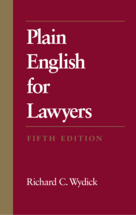Plain English For Lawyers book jacket