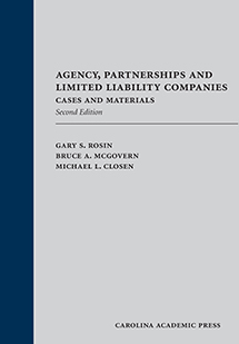 Agency, Partnerships and Limited Liability Companies book jacket