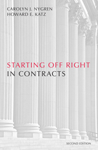 Starting Off Right in Contracts book jacket