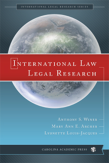 International Law Legal Research book jacket