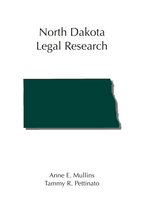 North Dakota Legal Research book jacket