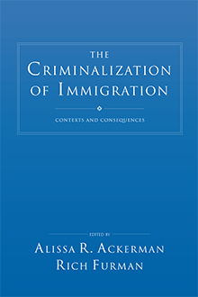 The Criminalization of Immigration book jacket