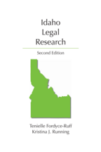 Idaho Legal Research book jacket